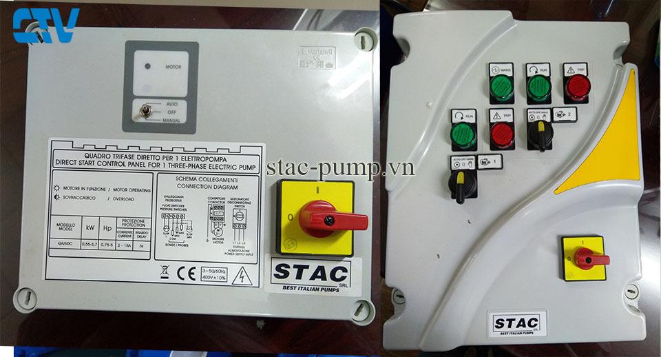 Tủ điện điều khiển máy bơm hãng Stac Italia