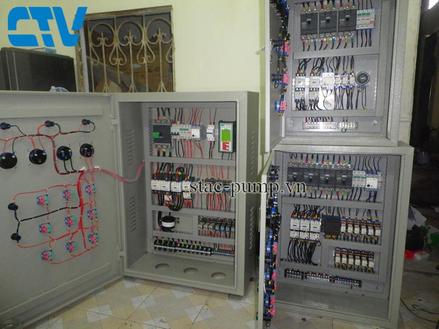 Thiết kế, lắp đặt tủ điện điều khiển máy bơm xử lý nước thải